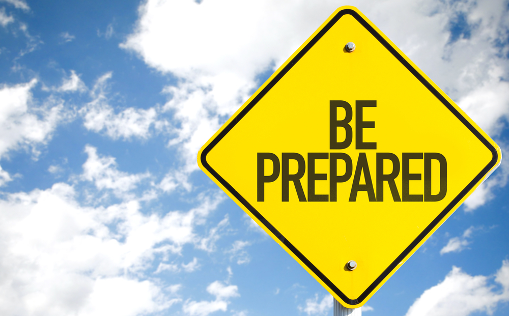 Be Prepared sign with sky background-1