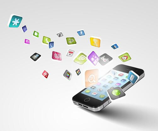 Media technology illustration with mobile phone and icons.jpeg