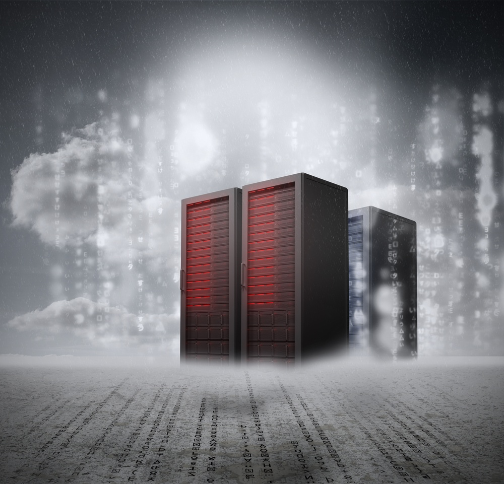 Red servers with grey background and matrix.jpeg