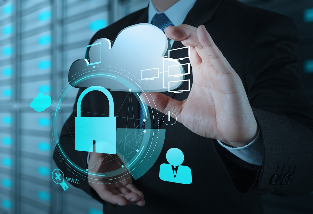 businessman hand show 3d cloud icon with padlock as Internet security online business concept.jpeg